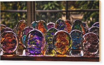 Glass Symphony Wood Print by David Patterson
