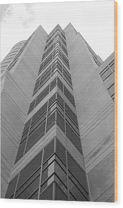 Wood Print featuring the photograph Glass Tower by Rob Hans