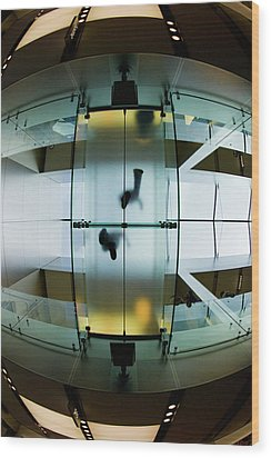 Glass Walkway Apple Store Stockton Street San Francisco Wood Print