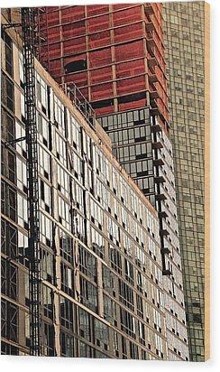 Glass Windows Wood Print by Gillis Cone