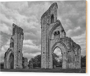 Wood Print featuring the photograph Glastonbury Abbey by Elvira Butler