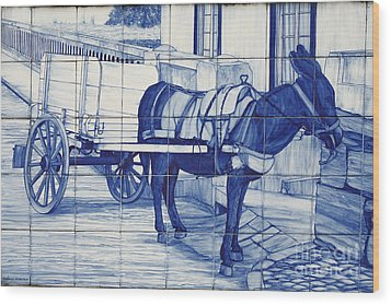 Glazed Tiles Wood Print by Gaspar Avila