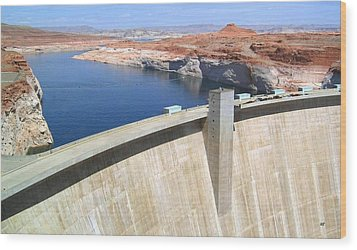 Glen Canyon Dam Wood Print by Will Borden