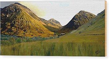Glen Coe Wood Print by James Shepherd