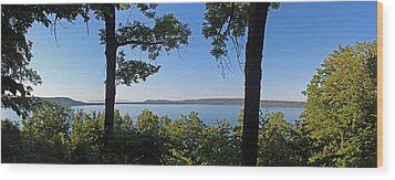 Glen Lake From Inspiration Point Wood Print by Twenty Two North Photography