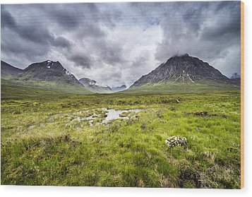 Wood Print featuring the photograph Glencoe by Jeremy Lavender Photography