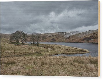 Wood Print featuring the photograph Glendevon Reservoir In Scotland by Jeremy Lavender Photography