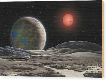 Gliese 581 C Wood Print