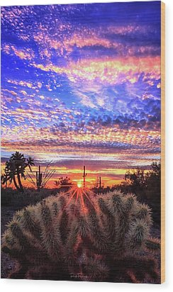 Glimmering Skies Wood Print by Rick Furmanek