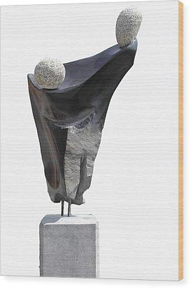 Glisando Wood Print by Jos Hamann