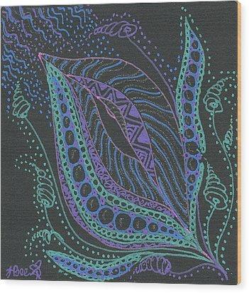 Glitter Flower Wood Print by Jan Steinle