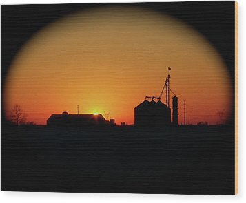 Global Sunset Wood Print by Sue Stefanowicz