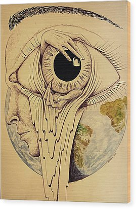 Global Vision Of The Situation Wood Print by Paulo Zerbato