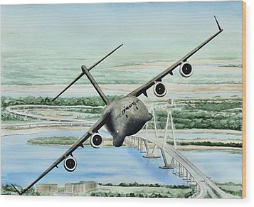 Globemaster Wood Print by Lane Owen