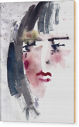 Gloomy Woman  Wood Print by Faruk Koksal