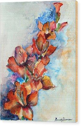 Glorify Wood Print by Mindy Newman