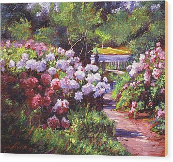 Glorious Blooms Wood Print by David Lloyd Glover