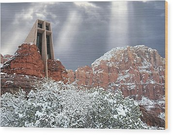 Wood Print featuring the photograph Glorious Chapel Of The Holy Cross by Donna Kennedy