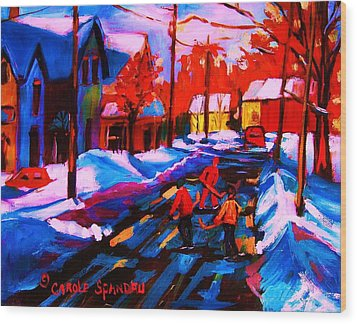Glorious Day For A Game Wood Print by Carole Spandau