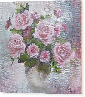 Glorious Roses Wood Print