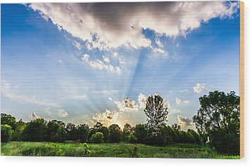 Wood Print featuring the photograph Glorious Sky - B by Anthony Rego