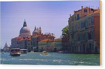 Wood Print featuring the photograph Glorious Venice by Anne Kotan