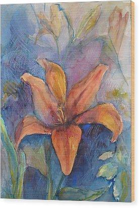 Glorius Lily Wood Print by Joyce Kanyuk