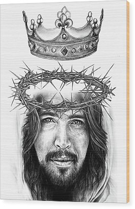 Glory To The King Wood Print