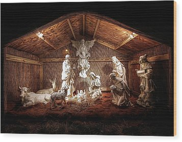 Glory To The Newborn King Wood Print by Shelley Neff