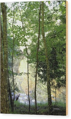 Glow Of Silence Wood Print by Isartdesign By Isabella Schnittger