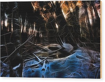 Wood Print featuring the photograph Glow River by Michaela Preston