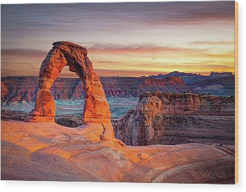Glowing Arch Wood Print by Mark Brodkin Photography