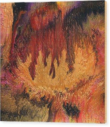 Glowing Caves Wood Print by Paul Tokarski