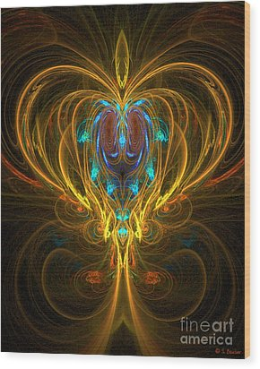 Glowing Chalise Wood Print