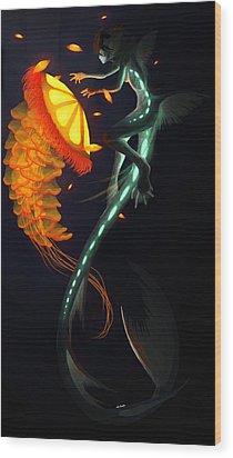 Glowing Depths Wood Print by Nicki Lagaly