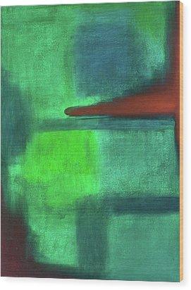 Glowing Green Wood Print
