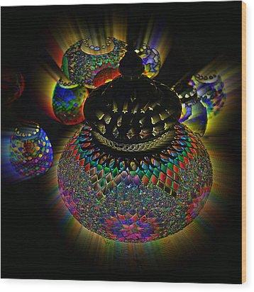 Glowing Lanterns Wood Print