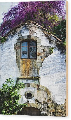 Wood Print featuring the photograph Glowing Old Window In Portugal by Marion McCristall