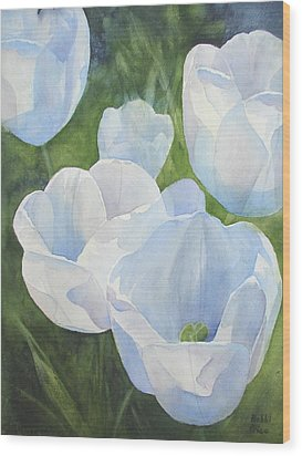 Glowing Tulips Wood Print by Bobbi Price