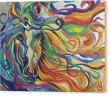 Glyde  Wood Print by Heather Roddy