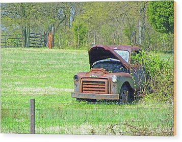 Wood Print featuring the photograph Gmc Retired by Larry Bishop