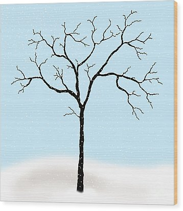 Gnarled In Winter Wood Print