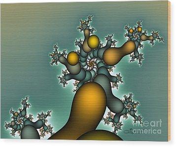 Gnarly Tree Wood Print by Jutta Maria Pusl