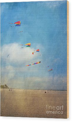 Wood Print featuring the photograph Go Fly A Kite by David Zanzinger