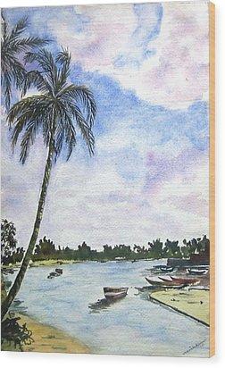 Goa Wood Print by Monika Deo