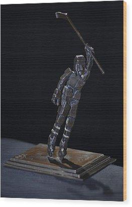 Goal By Yack Wood Print by Ken Yackel
