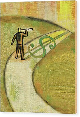 Wood Print featuring the painting Goal by Leon Zernitsky