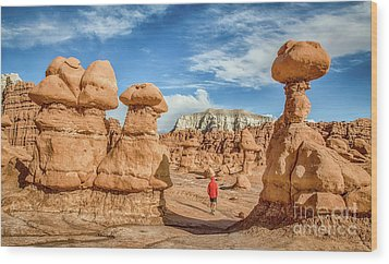 Goblin Valley State Park Wood Print by JR Photography