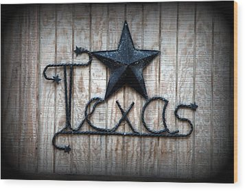 Wood Print featuring the photograph God Bless Texas by Kathy  White