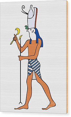 God Of Ancient Egypt - Horus Wood Print by Michal Boubin